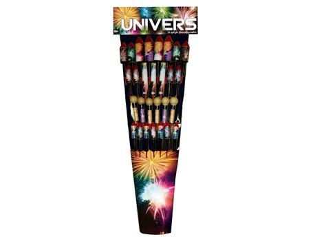 UNIVERS:   Das Powersortiment mit 28 effektstarken, farbenprächtigen Raketen!    (Ka