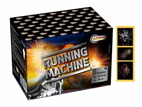 Running Maschine:    Rasante Cracklingeffekte in vielen starken Farben zu Beginn und Palmen sowi