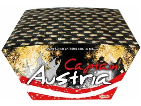 Captain Austria:    Goldfächer Batterie - goldene Seesterne mit aufsteigendem Schweif für DAS F
