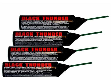 Black Thunder:   Black Thunder ca. 30g mit Vorbrenner   Blitzknaller KAT F4      Abgab