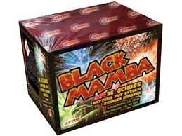 Black Mamba:    Neuartige Effekte mit maximaler Füllmenge zeichnen diese Komplettfeuerwerks