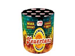 Feuertanz:      Fontäne mit 3m und ca.90 Sek.  Abwechslungsreiche Fontäne, tolle Ef