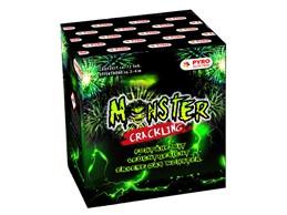 Monster Crackling:      Fontäne mit 4m und ca. 72 Sek.  Neuartige und abwechslungsreiche Font