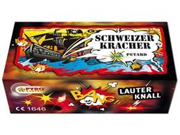Schweizer Kracher:   100 Stück / Schachtel    Schwarzpulver    Reibknaller mit Reibfläche b