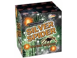 Silver Spider:    Crackling Sterneffekte unterlegt mit grünem Hintergrund und Goldflitterwolk