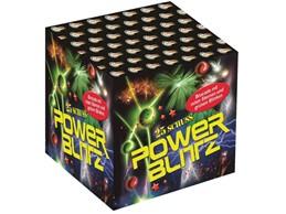 Power Blitz:    Mächtige Palmen und Brocaden kombiniert mit roten Leuchtkugeln, Blinksterne